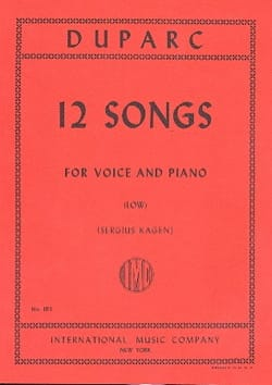 Henri Duparc - 12 Melodies. Deep voice - Sheet Music - di-arezzo.co.uk