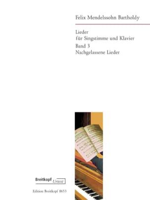 Lieder Volume 3 - MENDELSSOHN - Partition - laflutedepan.com