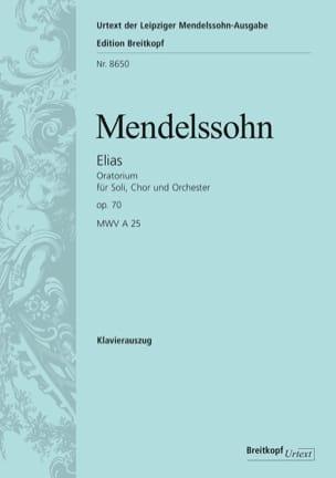 MENDELSSOHN - Elias Opus 70 - Partition - di-arezzo.fr