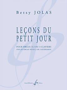 Leçons Du Petit Jour - Betsy Jolas - Partition - laflutedepan.com