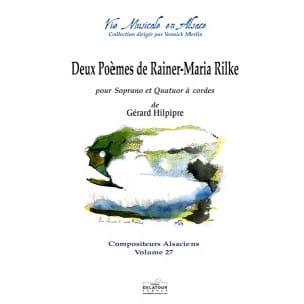 Gérard Hilpipre - 2 Poèmes de Rainer-Maria Rilke - Partition - di-arezzo.fr