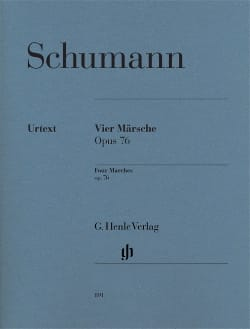 4 Marches Op. 76 - Robert Schumann - Partition - laflutedepan.com