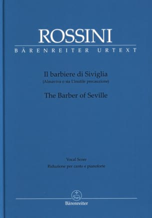 Gioachino Rossini - Il Barbiere di Siviglia - Sheet Music - di-arezzo.co.uk
