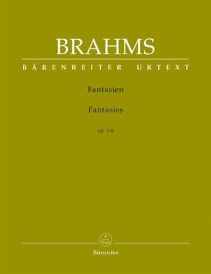 Johannes Brahms - Fantaisies Opus 116 - Partition - di-arezzo.fr