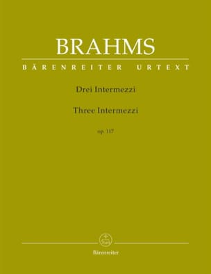 3 Intermezzi Opus 117 BRAHMS Partition Piano - laflutedepan