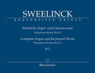 Jan Pieterszoon Sweelinck - Oeuvre pour orgue et clavier Volume 2-2 - Partition - di-arezzo.fr