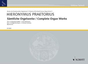 Oeuvre d' Orgue Volume 1 - Hieronymus Praetorius - laflutedepan.com