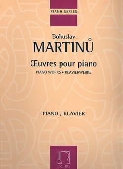 Bohuslav Martinu - Oeuvres pour Piano - Partition - di-arezzo.fr