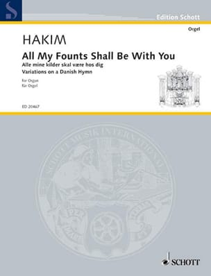 Naji Hakim - All My Founts Shall Be With You - Partition - di-arezzo.fr