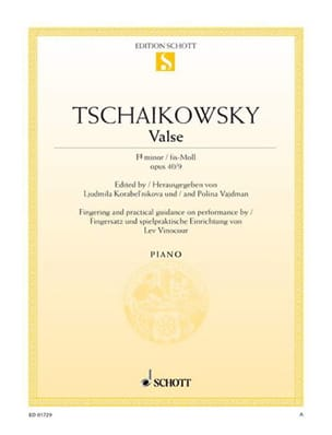 Piotr Illitch Tchaikovsky - Valse Op. 40-9 - Partition - di-arezzo.fr