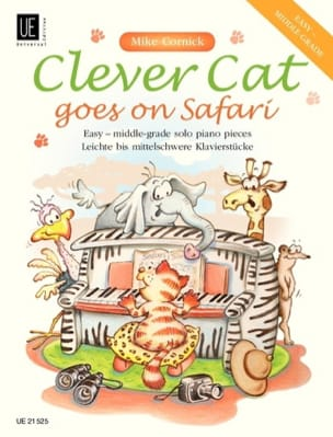 Clever Cat Goes On Safari Mike Cornick Partition Piano - laflutedepan