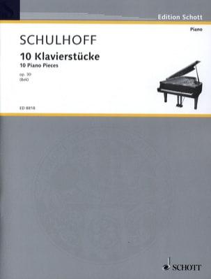 Erwin Schulhoff - 10 Klavierstücke Op. 30 - Partition - di-arezzo.fr