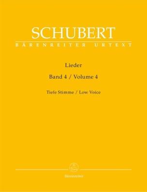 Lieder Volume 4. Voix Grave - Franz Schubert - laflutedepan.com