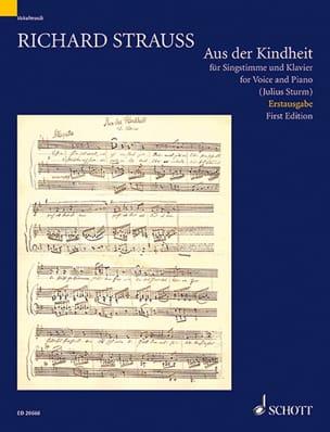 Aus Der Kindheit - Richard Strauss - Partition - laflutedepan.com