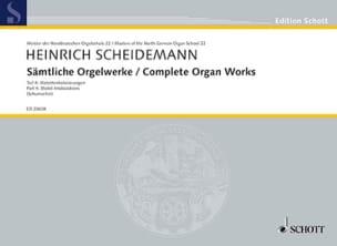 Heinrich Scheidemann - Sämtliche Orgelwerke Volume 4 - Partition - di-arezzo.fr