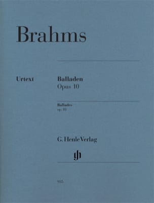 BRAHMS - Ballads Opus 10 - Sheet Music - di-arezzo.co.uk