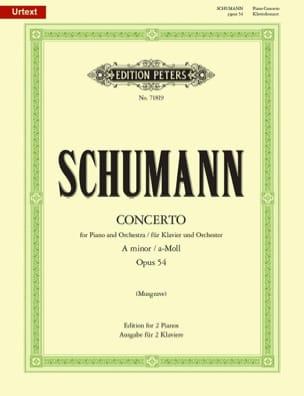 Concerto Pour Piano En la Mineur op 54 - SCHUMANN - laflutedepan.com