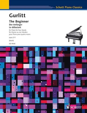 The Beginner. 4 mains Cornelius Gurlitt Partition Piano - laflutedepan