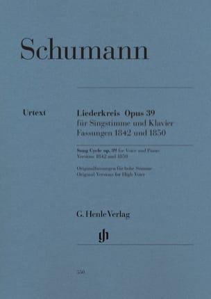 SCHUMANN - Liederkreis Opus 39 - Sheet Music - di-arezzo.co.uk