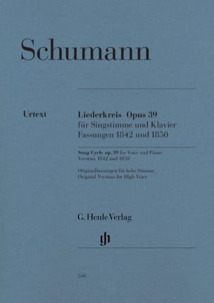 SCHUMANN - Liederkreis Opus 39 - Partition - di-arezzo.fr