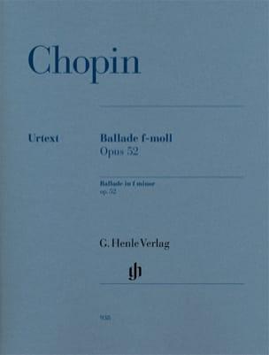 Frédéric Chopin - Ballade En Fa Mineur Opus 52 - Partition - di-arezzo.fr