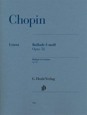 CHOPIN - Ballade En Fa Mineur Opus 52 - Partition - di-arezzo.fr
