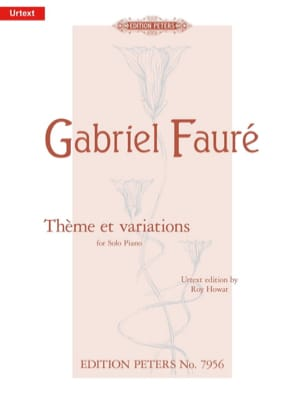 Gabriel Fauré - Theme and Variation Opus 73 - Sheet Music - di-arezzo.co.uk