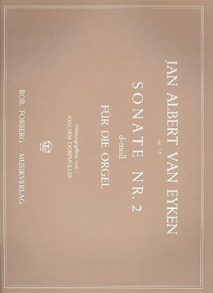 Sonate N° 2 - Jan Albert van Eyken - Partition - laflutedepan.com