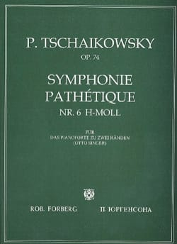 TCHAIKOWSKY - Pathetic Symphony Opus 74 - Sheet Music - di-arezzo.co.uk