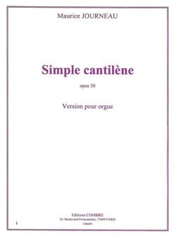 Simple Cantilène Op. 50 - Maurice Journeau - laflutedepan.com