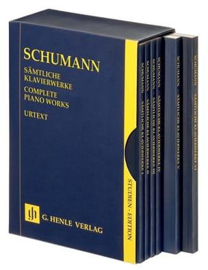 SCHUMANN - Il lavoro completo per pianoforte - 6 volumi sotto scatola - Partitura - di-arezzo.it