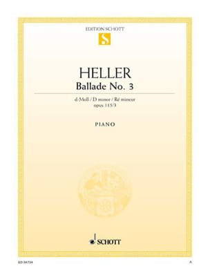 Stephen Heller - Ballad N ° 3 In D Minor Op 115-3 - Sheet Music - di-arezzo.co.uk