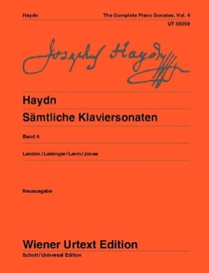 HAYDN - Sonatas For Piano Volume 4. New Edition - Sheet Music - di-arezzo.co.uk