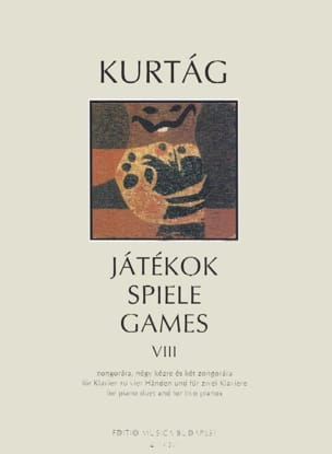 Jatekok Volume 8. 4 Mains KURTAG Partition Piano - laflutedepan