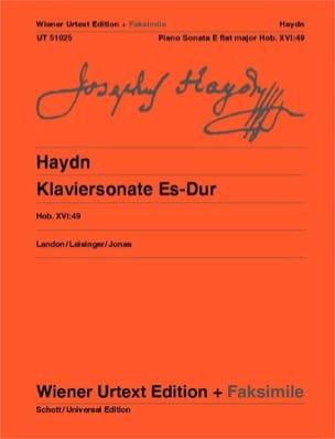 Joseph Haydn - Klaviersonate En Mi Majeur Hob 16-49 - Partition - di-arezzo.fr