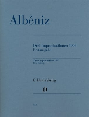 Isaac Albeniz - Trois Improvisations 1903 - Partition - Partition - di-arezzo.fr