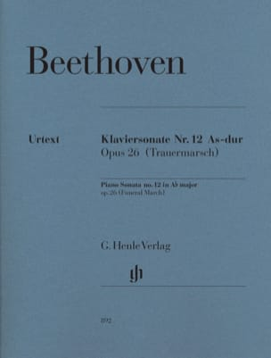 BEETHOVEN - Sonate pour piano n° 12 en La bémol majeur Opus 26 - Partition - di-arezzo.fr