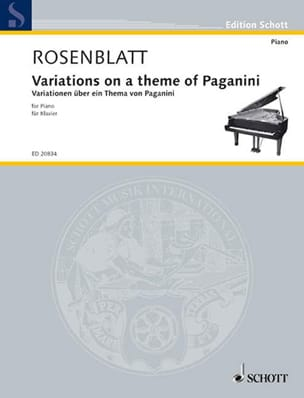 Alexander Rosenblatt - Variations on a Paganini Theme - Sheet Music - di-arezzo.co.uk