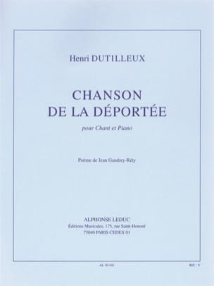 Henri Dutilleux - Song of the Deported - Sheet Music - di-arezzo.co.uk
