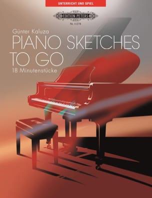 Piano Sketches To Go - Günter Kaluza - Partition - laflutedepan.com