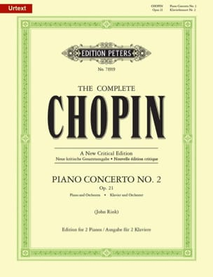 CHOPIN - Piano Concerto No. 2 in F Minor Opus 21 - Sheet Music - di-arezzo.com