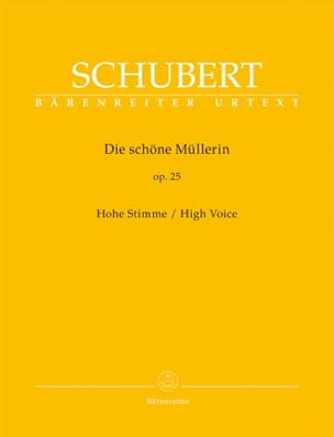 SCHUBERT - Die Schöne Müllerin Opus 25. High Voice - Sheet Music - di-arezzo.co.uk