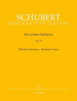 SCHUBERT - Die Schöne Müllerin Opus 25. Medium Voice - Sheet Music - di-arezzo.co.uk