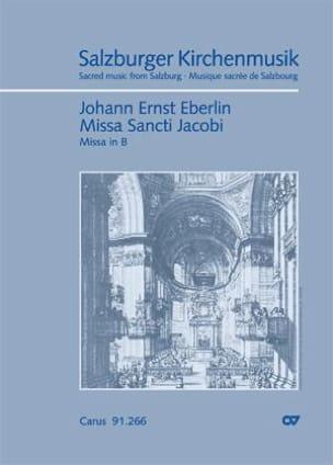 Missa Sancti Jacobi In B - Johann Ernst Eberlin - laflutedepan.com
