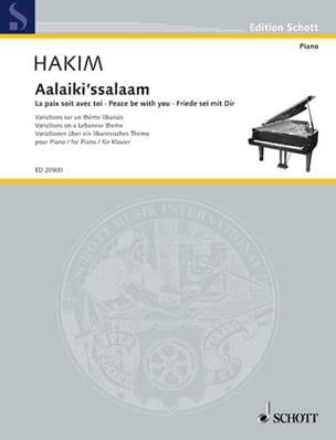 Aalaiki'ssalaam Naji Hakim Partition Piano - laflutedepan
