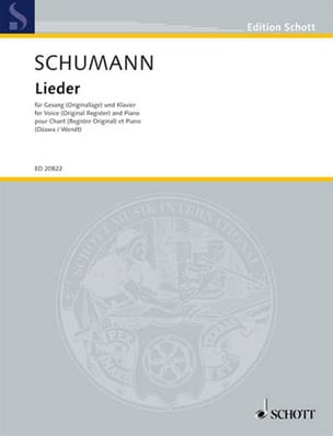 Robert Schumann - Lieder - Partition - di-arezzo.fr