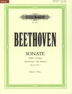 BEETHOVEN - Sonata No. 17 in D Minor Opus 31-2 - Sheet Music - di-arezzo.co.uk