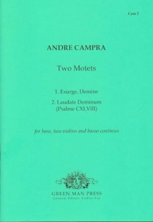 Two Motets - André Campra - Partition - laflutedepan.com