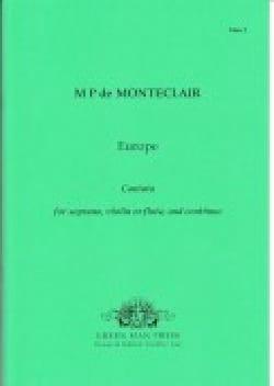 Michel Pignolet de Montéclair - Europe - Partition - di-arezzo.fr