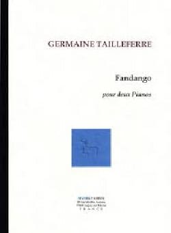 Germaine Tailleferre - Fandango - Partition - di-arezzo.fr